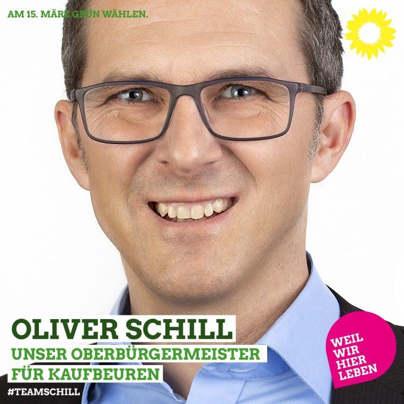 Oberbürgermeisterkandidat Grüne FDP Kaufbeuren Oliver Schill