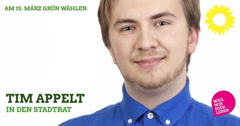 Tim Appelt in den Stadtrat Kaufbeuren, Grüne Liste