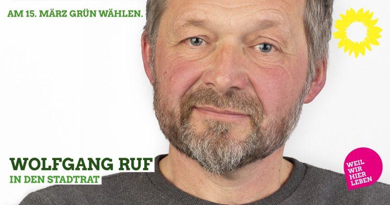 Wolfgang Ruf in den Stadtrat Kaufbeuren: Wahlvorschlag 0212 (Grüne Liste, Platz 12) bei den Kommunalwahlen Kaufbeuren 2020