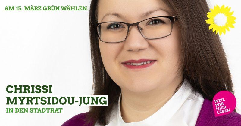 Stadtratskandidatin Chrissi Myrtsidou-Jung für Kaufbeuren