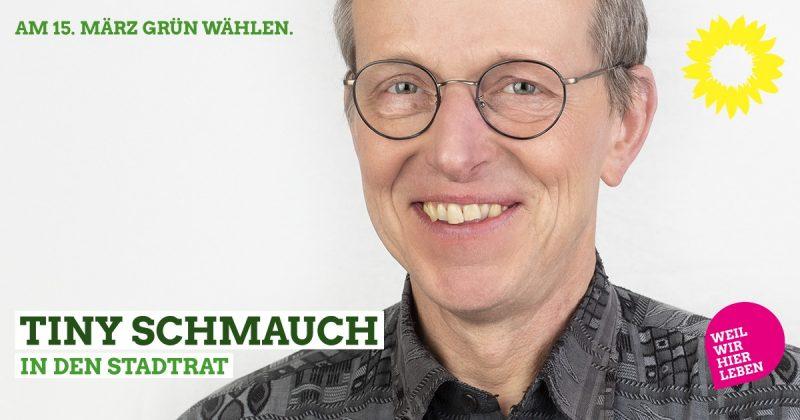 Stadtratskandidat Tiny Schmauch auf der grünen Liste