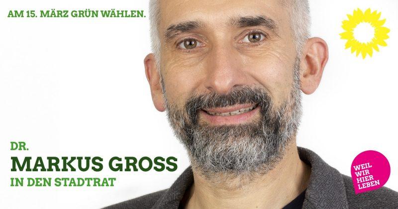 Markus Groß, Stadtratskandidat auf der grünen Liste 2020 für Kaufbeuren