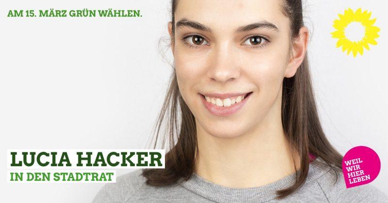 Lucia Hacker als Stadtratskandidatin für Kaufbeuren 2020