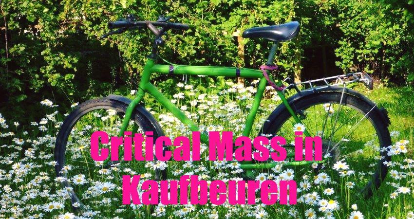 Critical Mass in Kaufbeuren: mit dem Fahrrad demonstrieren