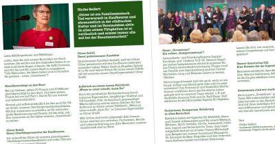 Stadtratswahl Kandidatenflyer Grüne Liste