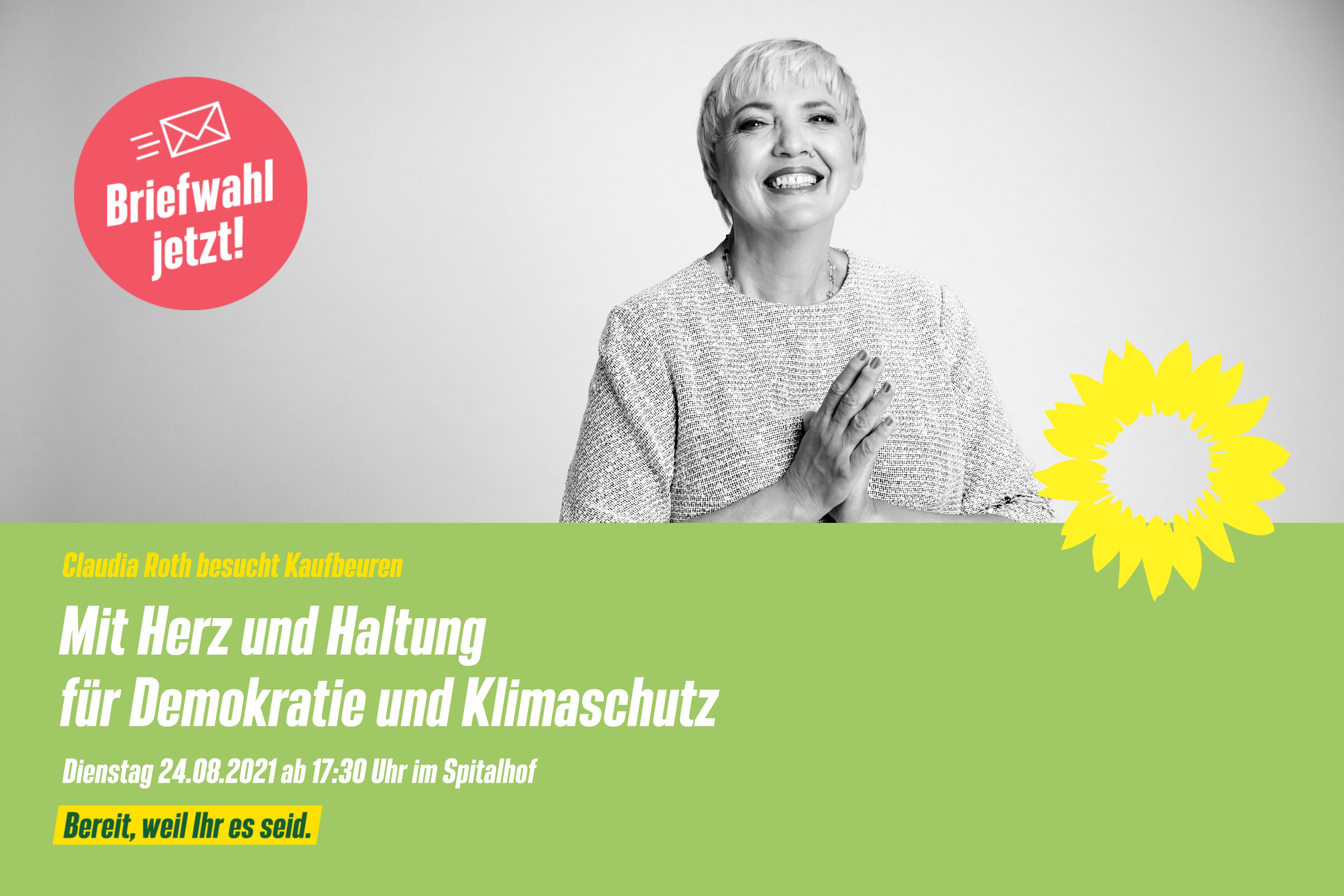 Mit Herz und Haltung für Demokratie und Klimaschutz – Claudia Roth besucht Kaufbeuren