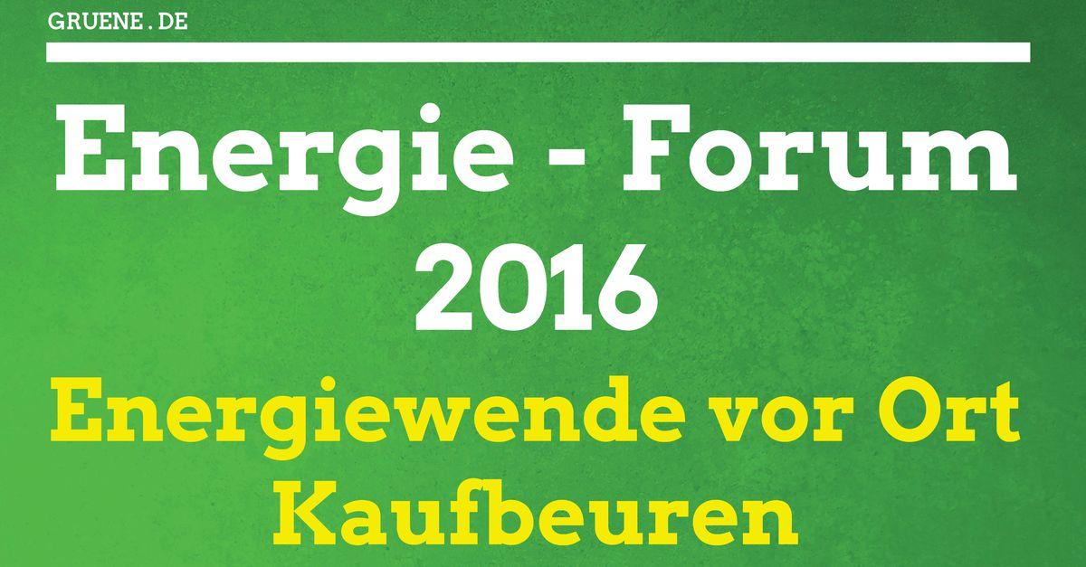 17.04.2016: Einladung zum Energie-Forum in Kaufbeuren.