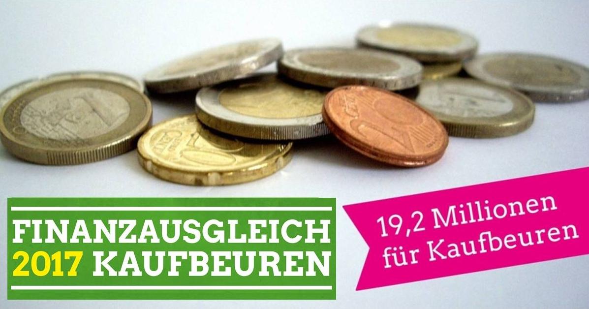 19,2 Millionen Euro für Kaufbeuren.