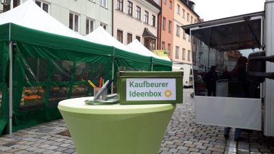 Kaufbeurer Ideenbox am Wochenmarkt Kaufbeuren
