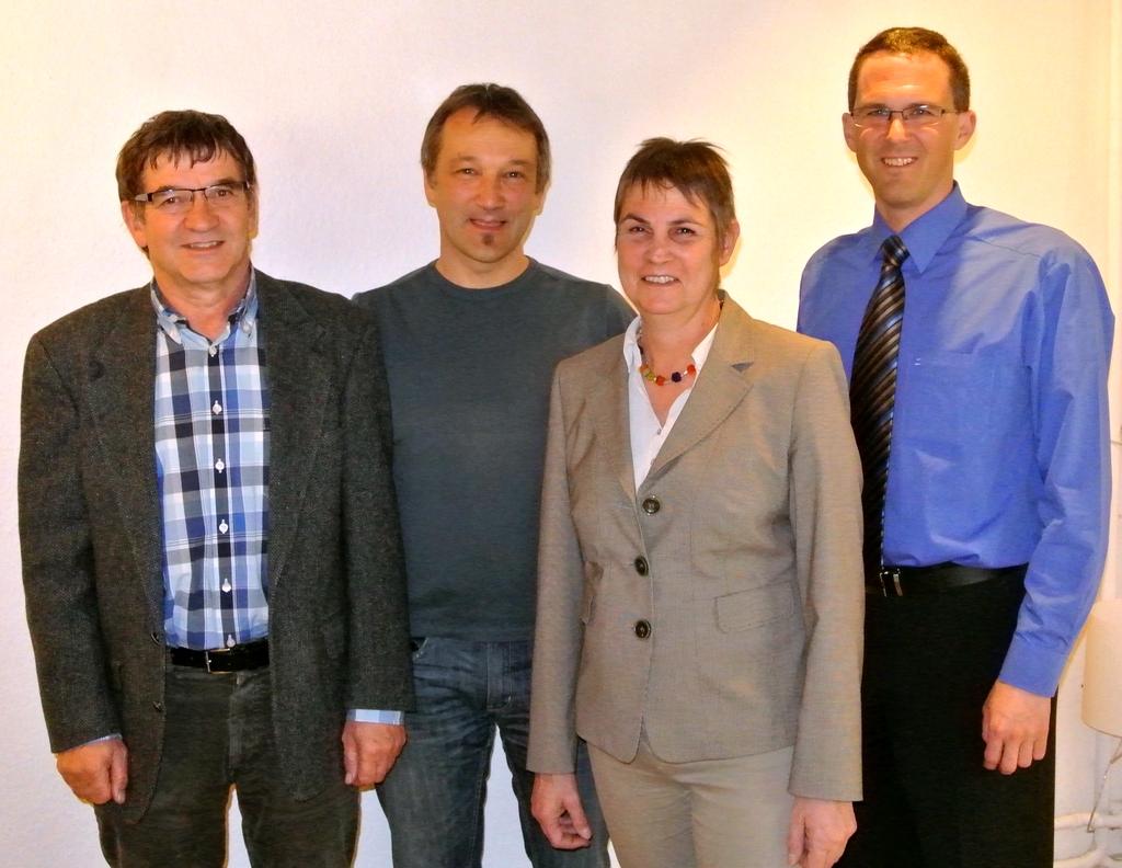 Der Ortsvorstand in Kaufbeuren: Martin Sirch, Martin Ebert, Ulrike Seifert (Sprecherin) und Oliver Schill (v. l. n. r.)