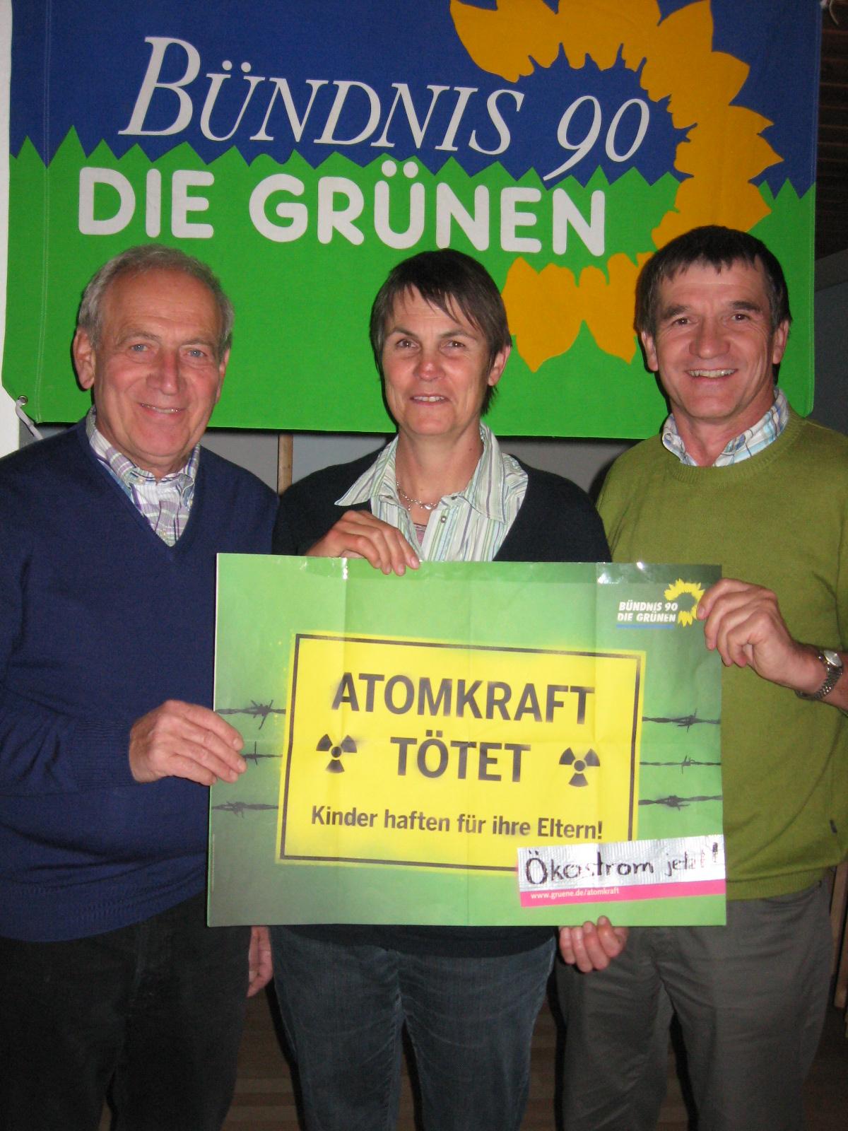 Von links: Rolf Köhler voller Tatendrang zusammen mit Ulrike Seifert und Martin Sirch im Jahre 2011.
