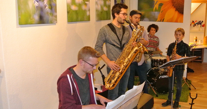 Jazz-Session beim Candle-Light-Shopping Kaufbeuren