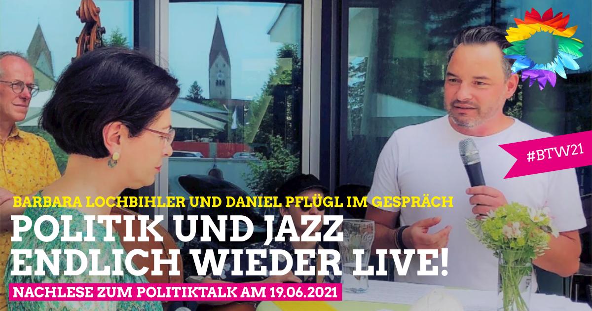 Politik und Jazz – endlich wieder live!