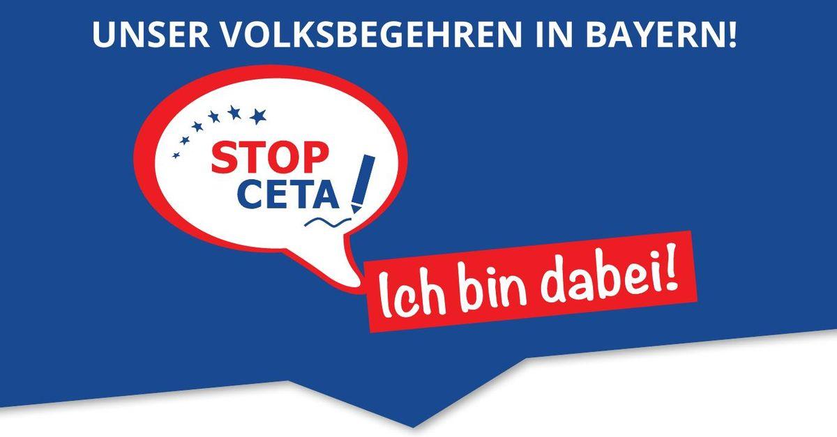 """Start des """"Volksbegehrens gegen CETA""""."""