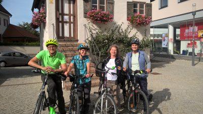 Die gesamte Grüne Stadtratsfraktion Kaufbeuren ist beim Stadtradeln aktiv: Oliver Schill, Susanne Eckl, Marita Knauer, Ulrike Seifert (v.l.)
