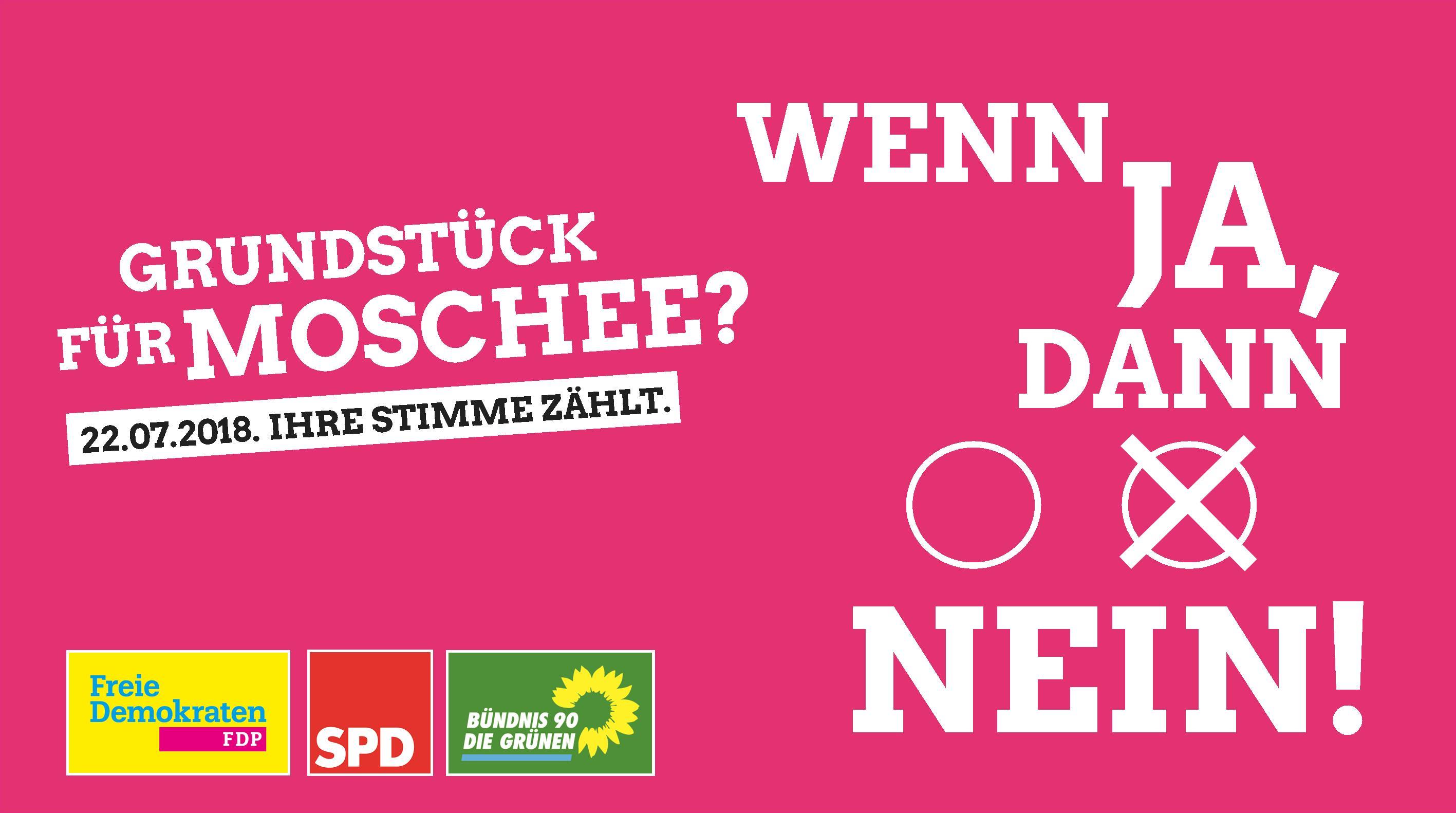 """FDP, SPD & Grüne: Gemeinsam """"Nein"""" beim Bürgerentscheid."""