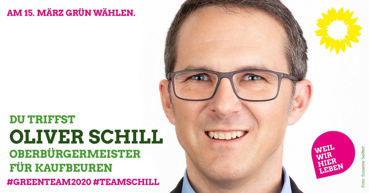 """Oliver Schill mit seinem """"Greenteam 2020"""" in der Bar """"Spital"""""""
