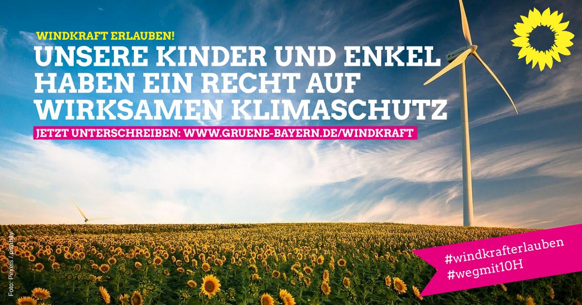 Für mehr Windkraft in Bayern