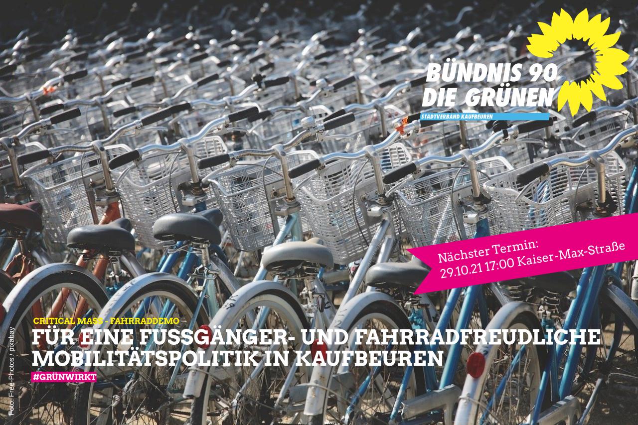 Critical Mass – Fahrraddemo in Kaufbeuren