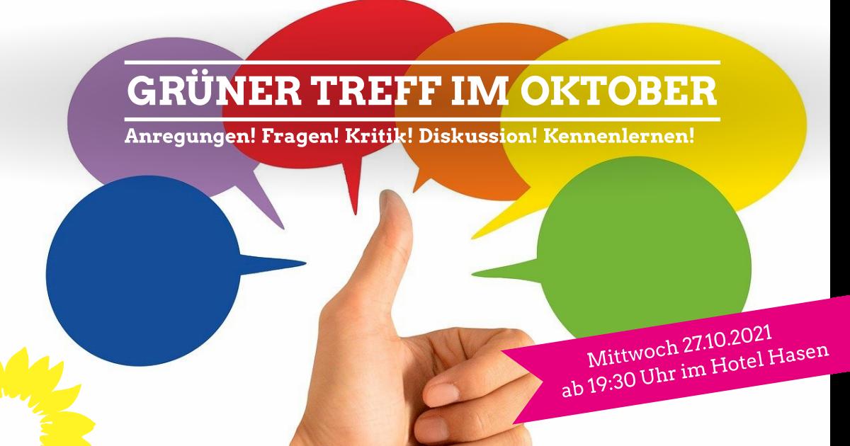 Grüner Treff am 27.10.2021
