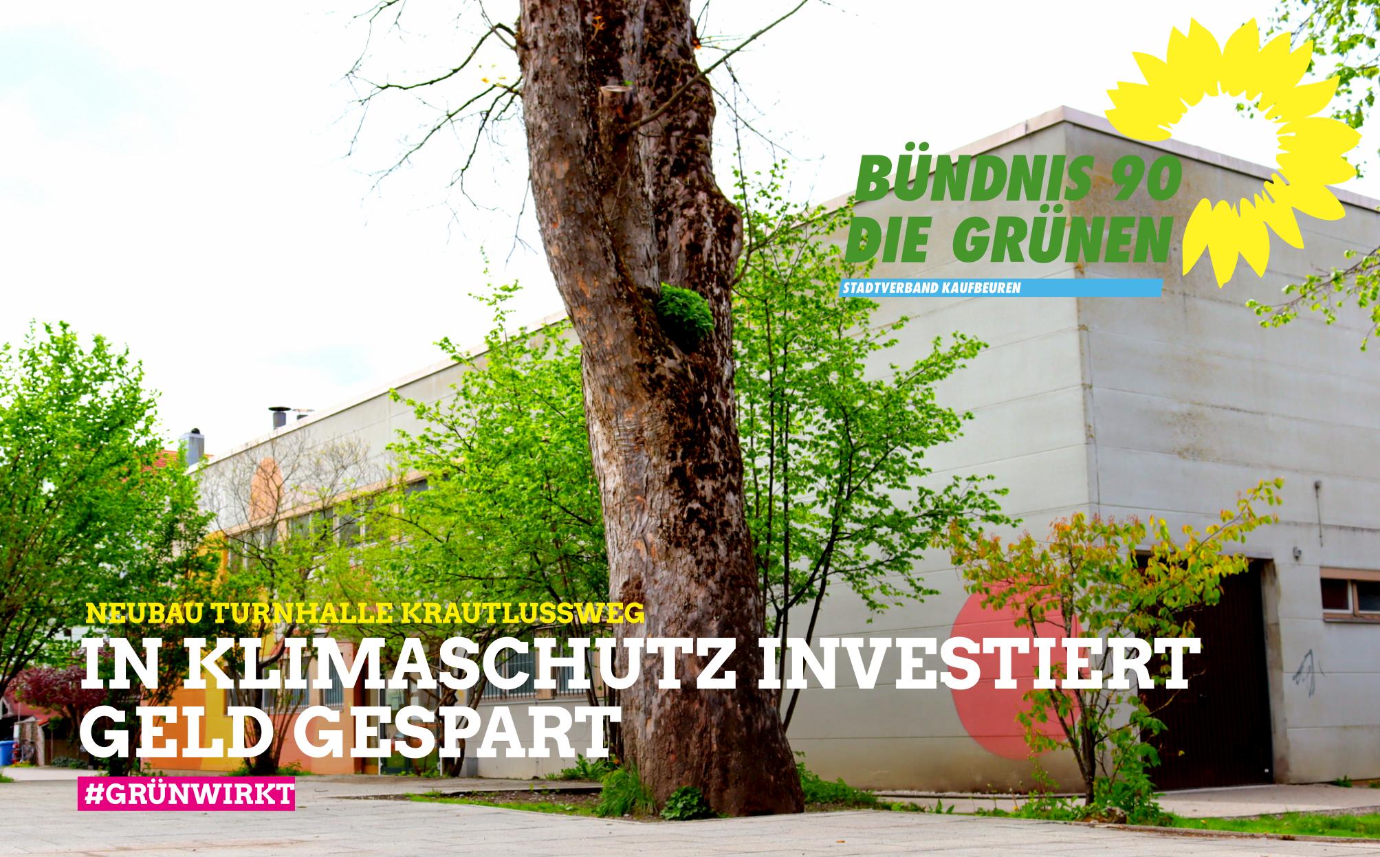 Neubau Turnhalle Krautlussweg – Höhere staatliche Zuschüsse dank Investitionen in den Klimaschutz