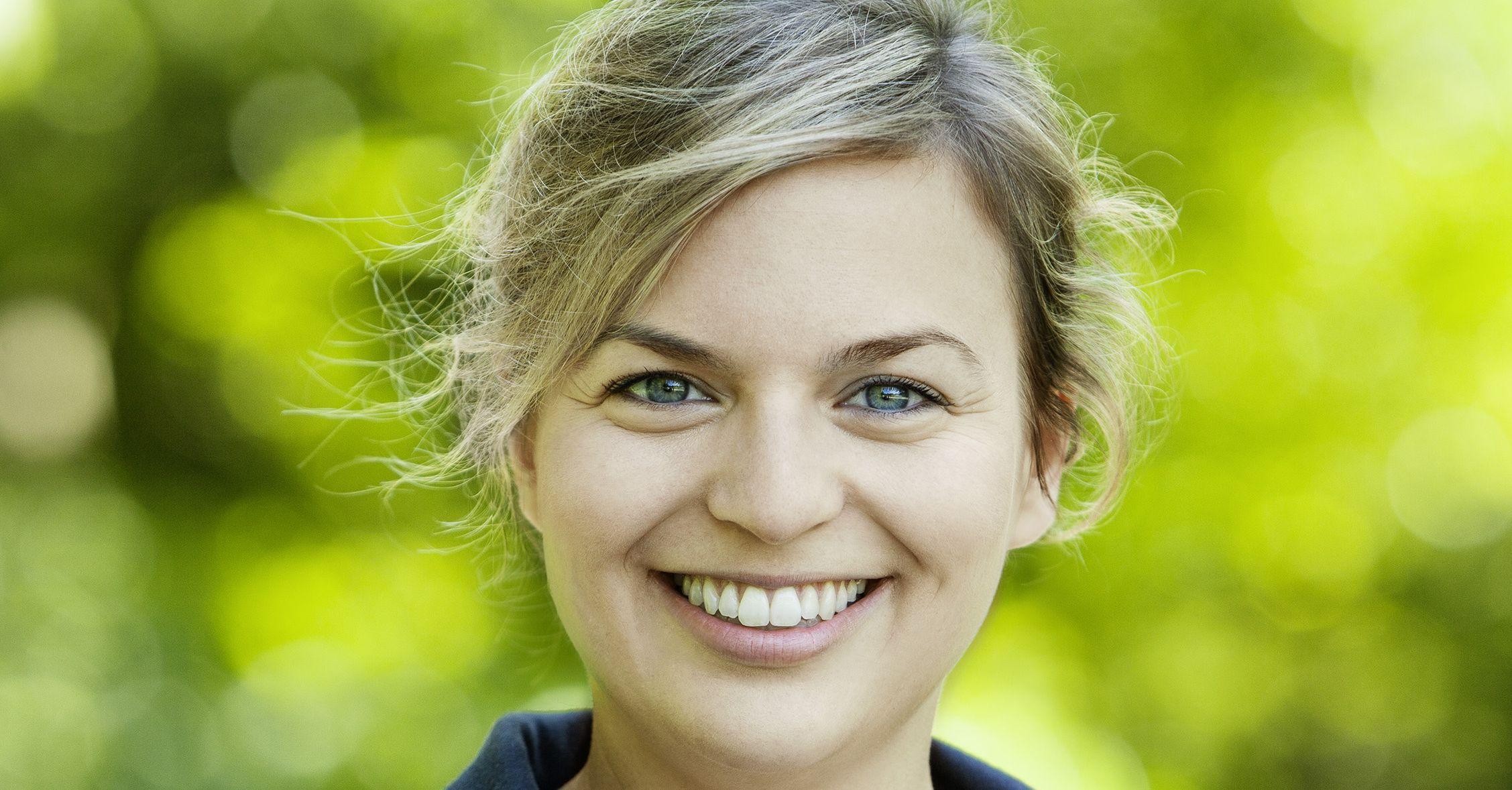 Landtagsabgeordnete Katharina Schulze zur Diskussion Polizeigebäude.
