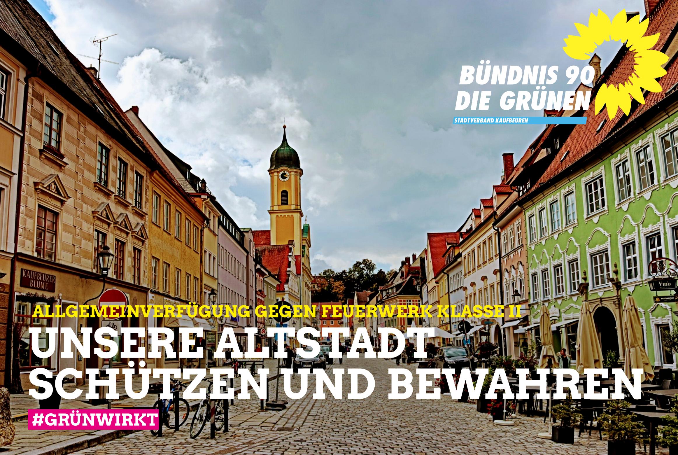Abbrennverbot für Feuerwerk der Klasse II in der Altstadt